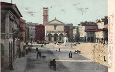 1925) LIVORNO PIAZZA VITTORIO EMANUELE. ANIMATA. VIAGGIATA NEL 1902.