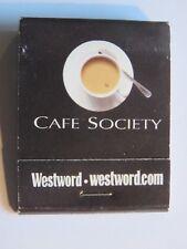 Matches Matchbook: WESTWORD Magazine Cafe Society Food Reviews; Denver, COLORADO