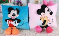 Kids Plush Pillow 3D Mickey Mouse Minnie Mouse Cushion Cartoon Plush Toys Gift