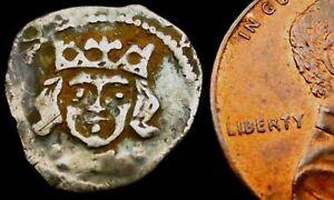 V921: Irish Edward IV Hammered Silver Dublin Penny 1470-78 issue. Burns' DU-6a