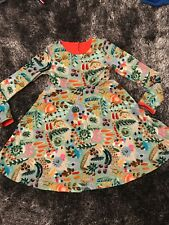 IMMACULATE - OILILY GREEN FLORAL DRESS - AGE 7 YEARS
