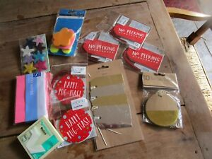Joblot of 11 Packets of Labels and Sticky Notes