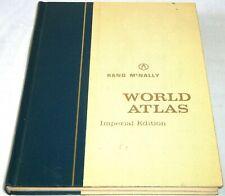 Vtg 1965 Rand McNally World Atlas Imperial Edition Book Globe Map United States