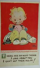 "ORIGINAL MABEL LUCIE ATTWELL POSTCARD 5139  ""THERE ARE SO MANY THINGS ABOUT YOU"""