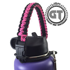 Paracord Handle Strap Holder Safety Ring & Carabiner for Hydro Flask Accessories