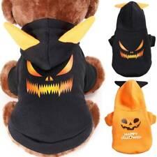 Pet Puppy Dog Cat Fancy Hoodies Warm Pumpkin Skull Sweatshirt Outfits Set Winter