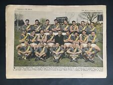 VFA WILLIAMSTOWN FOOTBALL CLUB ARGUS TEAM PHOTO FROM 1949, 4 PAGES