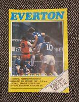 Everton v Tottenham Spurs 1982 Programme 30/1/82! FREE UK POSTAGE! LAST ONE!