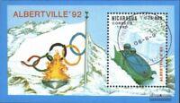 Nicaragua Block192 (kompl.Ausg.) gestempelt 1990 Winterolympiade ´92, Albertvill