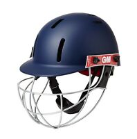Gunn & Moore GM Cricket Purist Geo II Helmet Steel Grill Head Protector - Navy