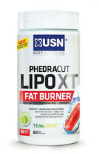 USN PHEDRA Cut Lipo XT Fat Burner 60 Caps Thermogenic Green Tea 1kg Diet Fuel