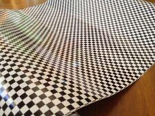 DC  200-2044 Black & White Small Checkered Flag Foil 45cm x 1m German Made