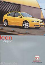 Seat Leon Cupra Prospekt 5 01 span brochure 2001 Auto PKWs Autoprospekt Europa