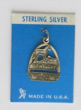 vintage sterling charm-arch style KENTUCKY BLUE GRASS STATE
