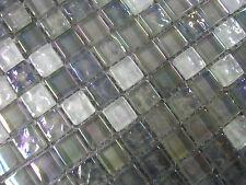 SAMPLE OF ARCTIC PEARL GLASS MIX MOSAIC TILES (16 PIECES PER SAMPLE)