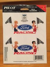 4 pc automotive official FORD MOTOR oval DECAL sheet LOGO racing girls