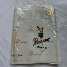 True Vintage Paramount Productions Fully Fashioned Stockings Light Tan Size 8.