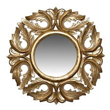 "Wall Mirror Wooden Frame Gold  24"" - Decorative Wall Decor - Wall Mirror -Accent"
