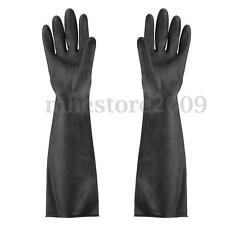 Elbow-Long Industry Anti Acid Alkali Chemical Resistant Rubber Work Gloves