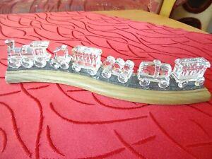 Swarovski Zug auf Holzschiene Eisenbahn teils in OVP