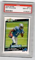 2004 Score #377 Roy Williams Detroit Lions Rookie Card PSA Graded Gem Mint 10