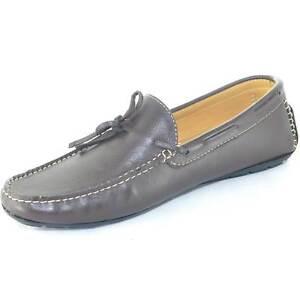 Scarpe uomo mocassino interland marrone da barca modello car shoes slip on made