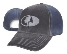 Mossy Oak Camo Black / Blue w/ Tree Logo Hunting Hat