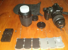 Nikon D3000 with 18-55mm (Kit) and 55-200mm (Telephoto) Lenses +5 Batteries