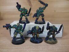 Peint Warhammer 40k Space Marines fusil sniper Scouts x2 Métal
