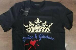 Dolce & Gabbana Black Crew Neck t shirt Crown Logo XL size