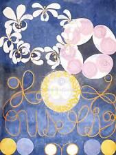 Hilma af Klint Pintura Abstracta Flores Remolinos impresión de arte poster foto HP374