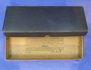 Rare Vintage Smith & Wesson Revolver Handgun Box No Outer Surface Graphics