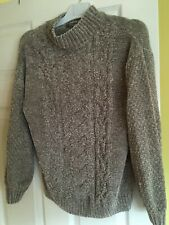 Grey Cable Velour Jumper Size 10/12