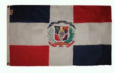 3x5 Embroidered Sewn Dominican Republic 300-D Premium Nylon Flag 3'x5' 2 Clips