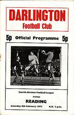 74/75 Darlington v Reading League Division 4
