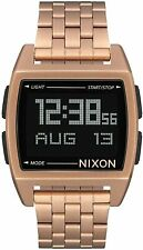 Nixon Women's Base A1107897-00 38mm Black Dial Stainless Steel Watch