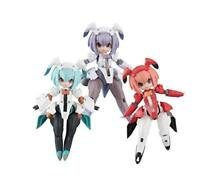 MegaHouse Desktop Army F-606s Frea Nabbit Sisters Set of 3 Figure NEW from Japan