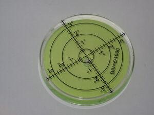 Spirit Level 66mm x 10mm Green Audio Hifi  x 1 Circular Accurate