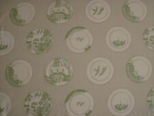 "GP & J BAKER LIFESTYLE CURTAIN FABRIC DESIGN ""Porcelain"" 7.8 METRES GREEN"