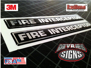 DOMED Ford Crown Victoria FIRE INTERCEPTOR emblems fire fighter ONLY FOUND HERE!