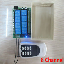 DC 12v 8CH wireless RF Remote Control relay Switch Transmitter+Receiver For Lamp