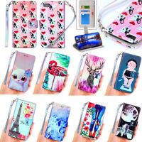 PU Leather Phone Case Flip Stand Cover Wallet Card Slot For Apple iPod Touch6