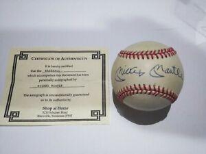 Mickey Mantle HOF NEW YORK YANKEES Signed Auto MLB OAL BROWN BASEBALL W/ COA