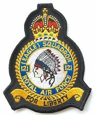 121 (EAGLE) Squadron For Liberty Official Military Crested Embroidered Patch