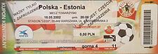 TICKET 18.5.2002 Polska Polen - Estonia Estland