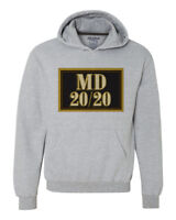 MD 20 20 wine Hoodie retro style distressed print grey graphic sweatshirt