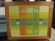 ABSTRACT SILKSCREEN PAINTING ON WOOD by Ireneo Cruz 1971 Philippines