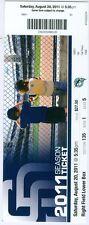 2011 Padres vs Marlins Ticket: Orlando Hudson, Nick Hundley Kyle Blanks HRs