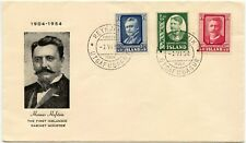 ICELAND 1954 HAFSTEIN SET FIRST DAY COVER FDC VF UNADDRESSED ILLUSTRATED