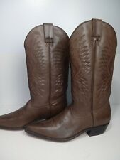 SEYCHELLES BROWN EMBROIDED LEATHER. COWBOY BOOTS.  Size 8